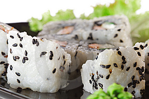 Japanese Cuisine - Sushi Royalty Free Stock Photography - Image: 9075387