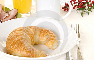 Breakfast Croissant Stock Photography - Image: 9076602