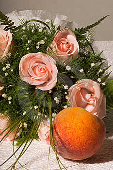 Rose And Peach Royalty Free Stock Photography - Image: 9076797