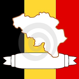 Map Of Belgium Royalty Free Stock Photo - Image: 9077225