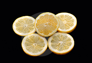 Lemon And Piece Of Lemon Stock Photography - Image: 9077492