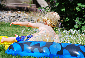Small Boy Playing Water Games Royalty Free Stock Photos - Image: 9077648