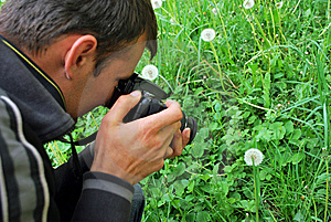Fotógrafo De La Naturaleza Fotos de archivo libres de regalías - Imagen: 9077698