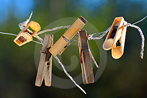 Old Clothespins. Royalty Free Stock Image - Image: 9077826