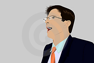 The Shouting Person In Glasses Stock Photography - Image: 9078932