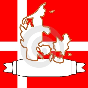 Map Of Denmark Royalty Free Stock Photos - Image: 9078988