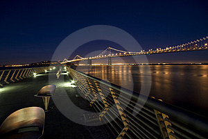 Bay Bridge At Night Stock Images - Image: 9082864