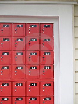 New Zealand Red Post Office Boxes. Stock Photos - Image: 9083463