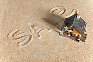 House On Sand. Royalty Free Stock Images - Image: 9083729