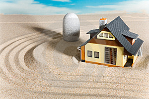 House On Sand. Royalty Free Stock Photo - Image: 9083745