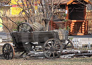 Age-old Russian Cart Stock Images - Image: 9083934