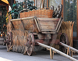 Age-old Russian Cart Stock Image - Image: 9083971