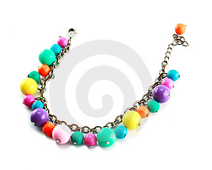 A Colored Bracelet Isolated Royalty Free Stock Photo - Image: 9084215