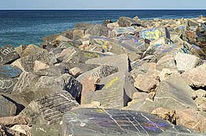 Breakwater Stock Images - Image: 9084574