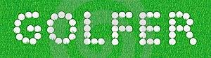Golfer Sign Stock Photo - Image: 9084730