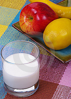 Fruits And Milk Royalty Free Stock Image - Image: 9085136