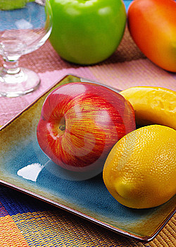 A Plate Of Fruits Stock Photography - Image: 9085162
