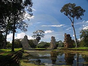 Angkor Archeologisch Park Stock Foto - Afbeelding: 9085220