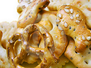 Variety Of Crispy, Tasty, Crunchy Snacks Royalty Free Stock Images - Image: 912089