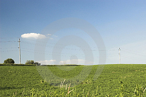 Telephone Wire In Country Royalty Free Stock Image - Image: 913316