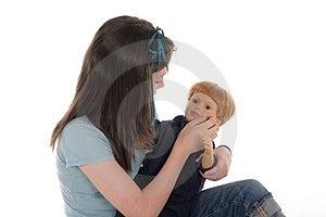 Meisje Het Spelen Met Doll 2 Stock Foto - Afbeelding: 917540