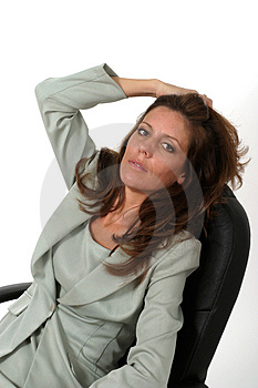 Relaxing Business Woman 2 Royalty Free Stock Images