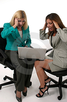 Two Business Women Working On Laptop 6 Royalty Free Stock Photography