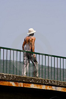 Worker Walking Royalty Free Stock Photography - Image: 918707