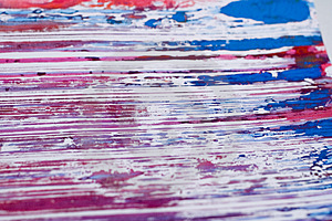 Splattered Smeered And Printed Stock Image - Image: 922011