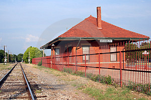 Rustic Railroad Station Royalty Free Stock Images - Image: 924899