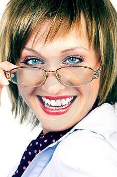Sorridere della donna di affari. Immagine Stock Libera da Diritti