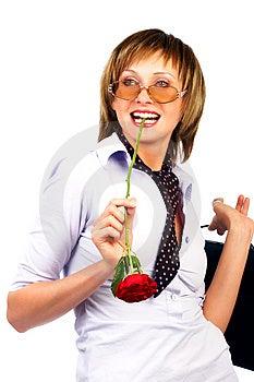 Sorridere della donna di affari. Fotografia Stock Libera da Diritti