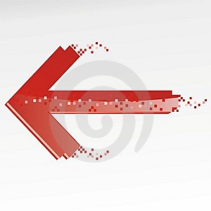 Red Arrow Stock Photo - Image: 9203410