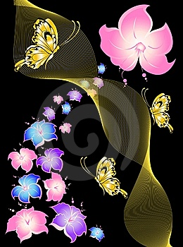 Abstract Floral Background Royalty Free Stock Images - Image: 9213079