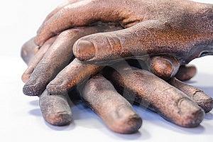 Three Hands Stock Photo - Image: 9213480
