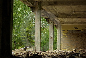 Building In Ruins Stock Images - Image: 9215744