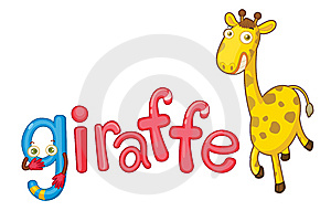 G For Giraffe Royalty Free Stock Images - Image: 9215949