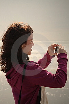 Teen Girl Taking Photos Stock Images - Image: 9218024