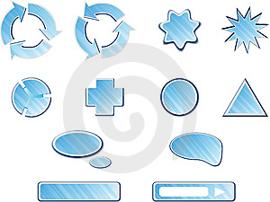 Blue Web Buttons Collection Royalty Free Stock Photo - Image: 9219795