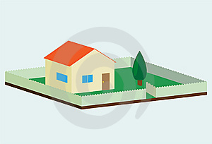 House In Suburbia Royalty Free Stock Photos - Image: 9220238