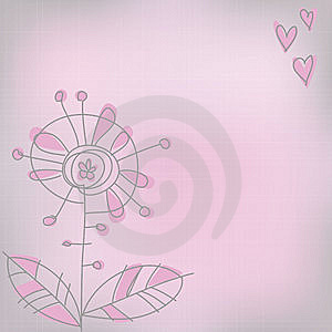 Pink Greeting Card Royalty Free Stock Photos - Image: 9223758