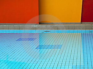 Geometric Swimming Pool Stock Image