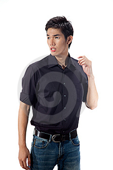 Young Man With Face Expression Royalty Free Stock Images - Image: 9225109