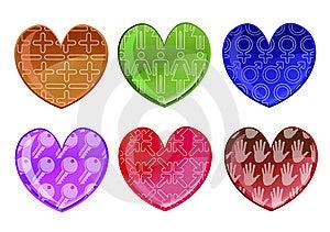 Hearts Icon Set Royalty Free Stock Image - Image: 9225256