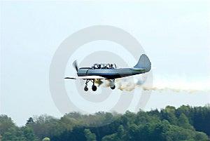 Stunt Pilot Plane Royalty Free Stock Image - Image: 9229956