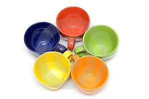 Multicolor Cups Royalty Free Stock Photography - Image: 9231567