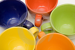 Multicolor Cups Royalty Free Stock Photos - Image: 9231908
