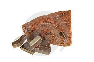 Chocolate Brownie Slice Royalty Free Stock Photo - Image: 9232015