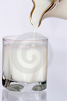 Pouring Milk Royalty Free Stock Image - Image: 9232666