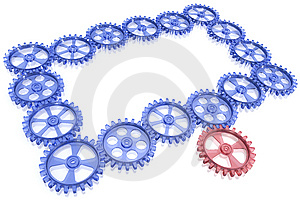 One Gear Rotate Whole Mechanism Stock Photo - Image: 9232760